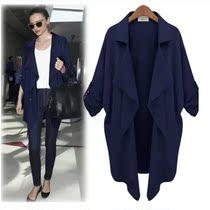 2013韩国代购欧美风秋装新款风衣外套中长款个性风衣 大衣外套女 价格:218.00