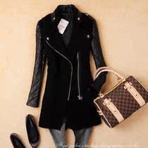 2013only*guo春秋冬女装新款欧美原单正品韩版修身中长款风衣外套 价格:139.00