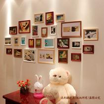 尊豪25框实木照片墙相片墙相框墙相框组合创意画框赠送双模版 价格:145.00