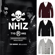 余文乐Neighborhood Izzue NHIZ骷髅章 男士V领针织开衫毛衣外套 价格:79.00
