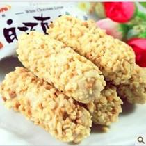 台湾进口食品特产 零食优群白巧克力恋人杏仁棒 糙米卷16g促销�b 价格:1.59
