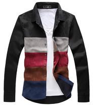 新款热卖春秋装男士衬衫 加肥加胖子加大码衬衣 男装韩版长袖衬衣 价格:59.00