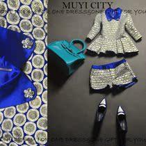 欧洲站2013秋装新款女装精致高档翻领水钻蓝色翻领套装T4299 价格:379.00