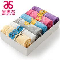 6条礼盒装可爱纯棉三角裤中腰性感无痕女士内裤 少女学生卡通内裤 价格:49.00