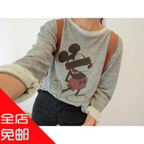 包邮209韩版女装秋装新款上衣 搞怪米奇老鼠印花宽松套头休闲卫衣 价格:27.80