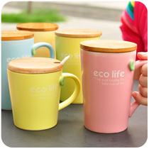 默默爱♥可爱马克杯 创意情侣咖啡杯陶瓷杯子 大容量带盖 水杯 价格:12.90