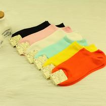 2013夏季竹碳纤维糖果色纯棉女袜子女士薄款浅口全棉女船袜子 价格:4.80