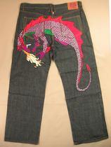赤猿RMC.牛仔裤男44码 食肉龙 刺绣HP滑板超大码满百包邮34TC/K19 价格:49.90