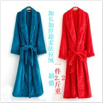 外贸珊瑚绒睡衣女加厚 法拉绒浴袍 珊瑚绒情侣睡衣 大码浴袍 价格:33.15