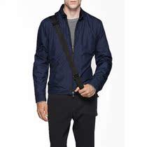 ZS系列新款~!米兰商务休闲 领部真皮包边 男士修身立领夹克外套 价格:588.00