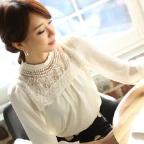 卓多姿诺曼琦朵以2013秋装新款专柜正品ccdd立领打底衫蕾丝雪纺衫 价格:68.00