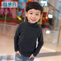 唯思凡童装男童秋装2013新款上衣儿童纯棉打底衫中大童高领T恤 价格:49.90