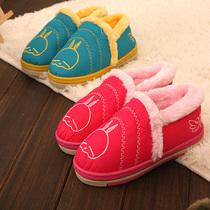 正品流氓兔冬季儿童保暖鞋 全包跟防滑棉拖鞋男女童可爱小中童鞋 价格:25.80