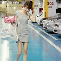 包邮2013夏季时尚百搭韩版修身显瘦无袖v领长款包臀打底衫t恤女棉 价格:24.95