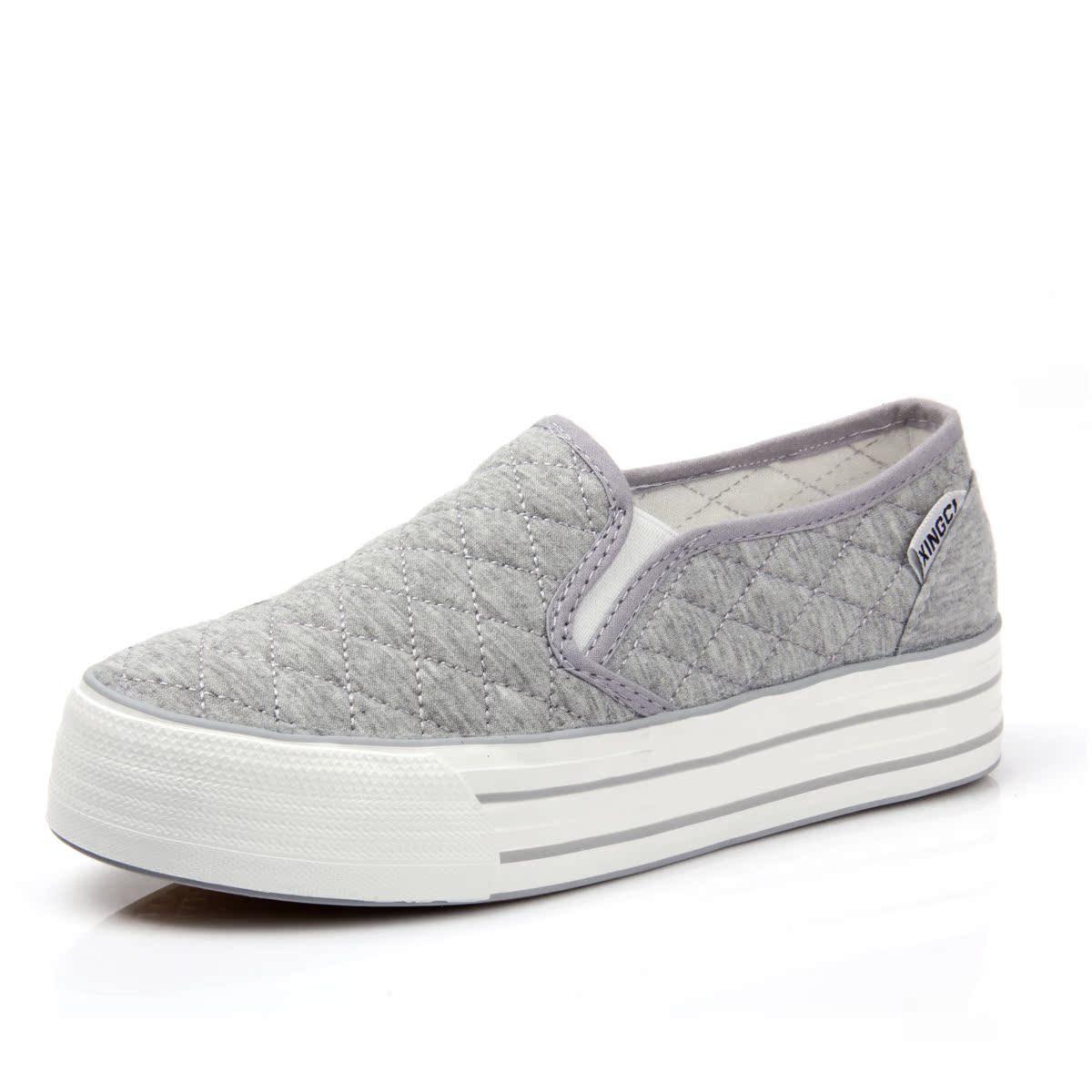 2013新款女式布鞋浅口帆布鞋厚底松糕透气韩版低帮女鞋子休闲鞋潮 价格:38.00