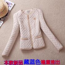 2013春秋新款女装棉服 欧美香奈儿气质拼接时尚外套修身保暖棉衣 价格:98.00
