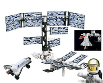 正品启蒙拼装拼插积木国际空间站航天系列DIY动手益智玩具 价格:19.00