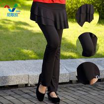 尼歌拉 广场舞服装新款裙裤拉丁舞下装春秋女舞蹈裤舞蹈套装裤子 价格:29.90