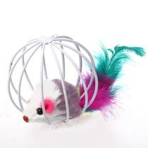 宠物玩具 铁笼老鼠  猫玩具 颜色随机  逗猫棒 猫用品 价格:5.00