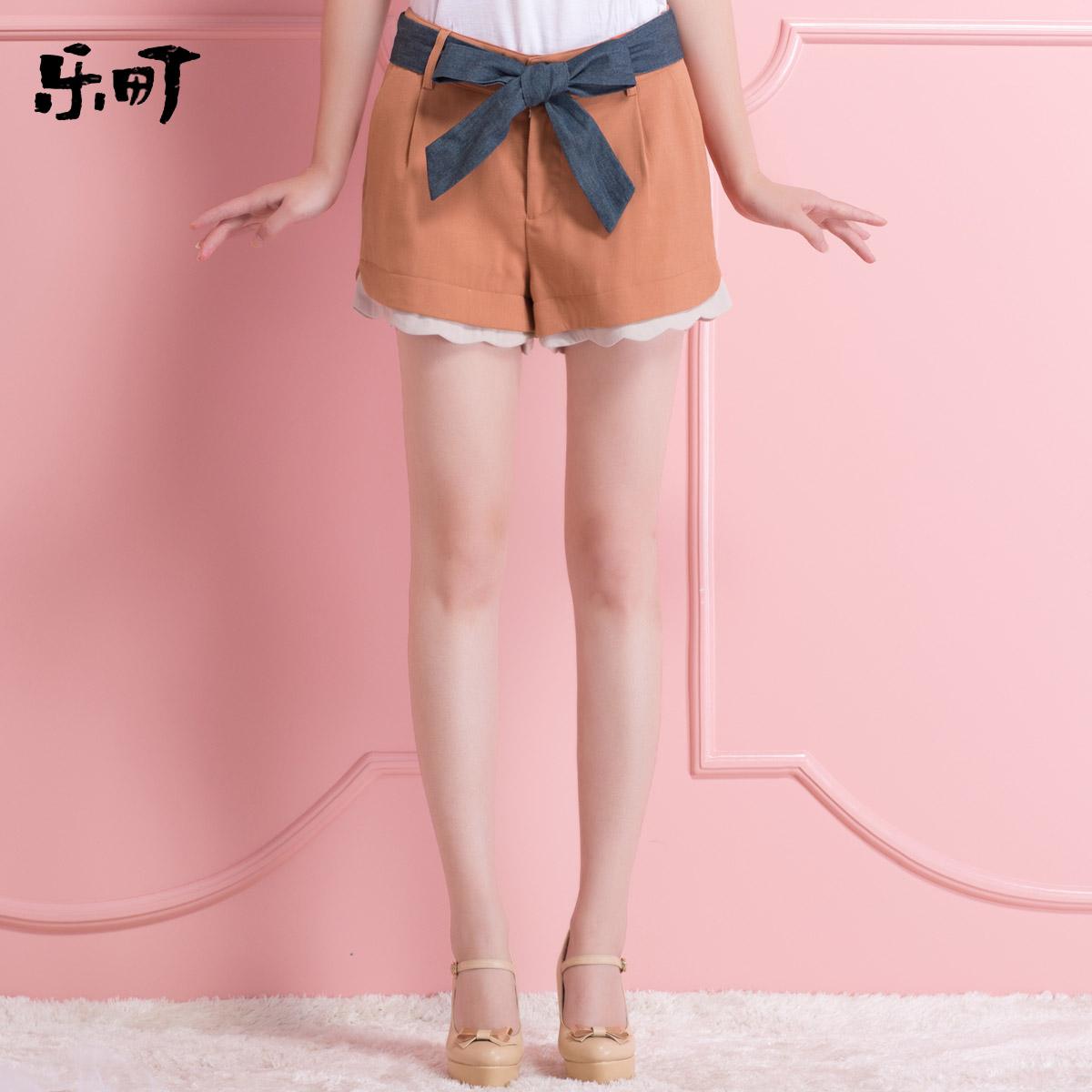 乐町2013秋装新款日系甜美女装 Ripple时尚休闲短裤热裤子显瘦 价格:119.00