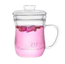 彩立方 白领办公杯子  三件式窈窕杯 过滤花茶杯 耐热玻璃杯 水杯 价格:19.80