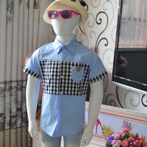 亲亲宝贝儿童短袖衬衫男童衬衫格子衬衫男大童衬衫英伦风衬衫 价格:45.00
