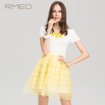 浪漫一身 中腰网纱公主袖连衣裙W8311539-569 价格:159.00