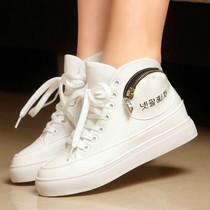 潮2013新款韩版内增高休闲鞋透气女鞋厚底松糕鞋帆布鞋街舞高帮鞋 价格:129.00