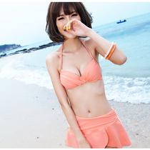 包邮bikini泡温泉泳衣 比基尼裙式钢托小胸聚拢 亦美珊女泳装1214 价格:88.00