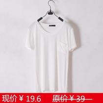 欧美风 新款 短袖T恤 纯色 基本款T恤 亚历山大王风格 夏装莫代尔 价格:19.60