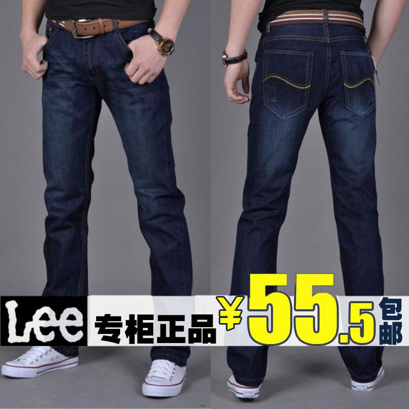 lee男士牛仔裤修身 专柜正品代购秋冬季装 韩版潮直筒黑色男 长裤 价格:55.50