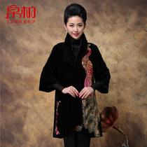 帛柏 秋装2013新款韩版时尚进口金丝绒女装风衣大码显瘦外套 价格:499.00