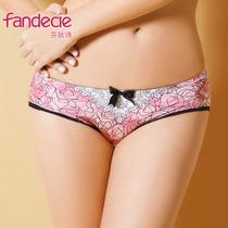 芬狄诗正品玫瑰物语系列舒适内裤华丽性感中低腰三角裤F81741 价格:80.00