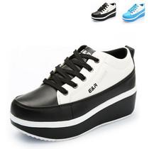 秋季韩版潮摇摇鞋 女 运动鞋坡跟增高松糕鞋减肥瘦身女鞋厚底单鞋 价格:79.20