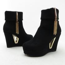 2013 新品 经典女孩 防水台 韩版 坡跟 短靴 女鞋 鞋子精品3019-3 价格:118.00
