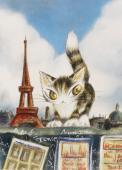 正品原装 现货 达洋猫系列埃菲尔铁塔 日本YANOMAN 进口拼图500片 价格:168.00