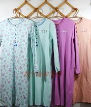 外贸胖人m特大码女装胸100-160cm 纯棉睡袍 花朵长款睡裙浴袍夏季 价格:30.00