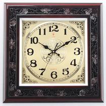 北极星大气复古中式雕花挂钟 仿红木客厅挂表 大厅静音高档石英钟 价格:188.00