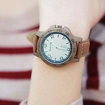 Caite彩特韩网明星款 帅气绒革表带手表 褐色复古表壳 男女表 价格:35.00