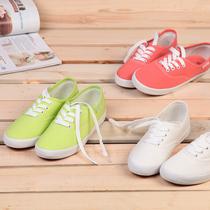 环球糖果色浅口帆布鞋女韩版潮复古休闲小白鞋情侣鞋学生鞋单鞋 价格:25.00