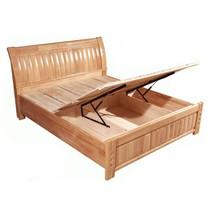 大自然橡木1.8米实木床 双人床 联邦家具 晚安 光明双叶华日风格 价格:1620.00