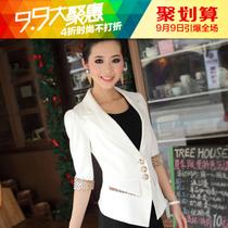 爆款! 韩版七分袖西服2013新款春装 女士短款休闲外套 修身小西装 价格:299.00