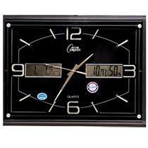 康巴丝夜光静音挂钟 客厅万年历双液显石英钟 超大尺寸霸道时钟表 价格:163.28