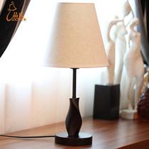 品氏 现代简约时尚宜家木质卧室床头台灯 创意调光客厅灯具灯饰 价格:78.00