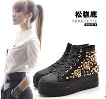 厚底鞋松糕鞋 女式鞋 潮2013秋pu莫蕾蔻蕾新款女单鞋 镶钻休闲鞋 价格:178.00