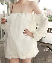 2013韩版夏季女装新款性感一字领露肩连衣裙party欧根纱短裙洋装 价格:45.00