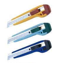 三木美工刀 宽大的滑刀设计美工刀 裁纸刀 不锈钢刀 91023 价格:3.88