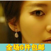 义乌厂家直销 饰品批发2013新款 亮晶晶款 简单美多钻耳环 价格:3.23