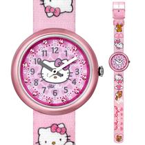 专柜正品斯沃琪 Swatch 儿童手表 2013 女孩凯蒂猫天使 ZFLN028 价格:225.00