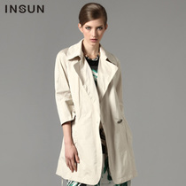 INSUN恩裳 专柜正品 2013新款修身长袖风衣90107010 价格:1480.50